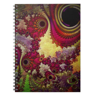 amazing Abstract fractal geometry Spiral Notebook