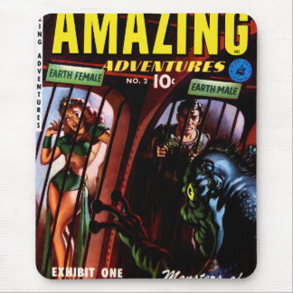 Amazing Adventures #2 Retro Sci Fi Comic Book Mouse Pad
