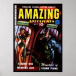 Amazing Adventures #2 Retro Sci Fi Comic Book Poster