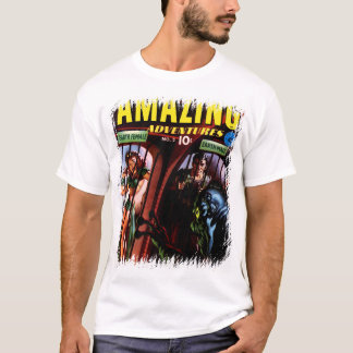 Amazing Adventures #2 Retro Sci Fi Comic Book T-Shirt