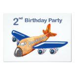 Amazing Airplane 2nd Birthday 5x7 Paper Invitation Card