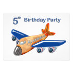 Amazing Airplane 5th Birthday Personalized Invitation