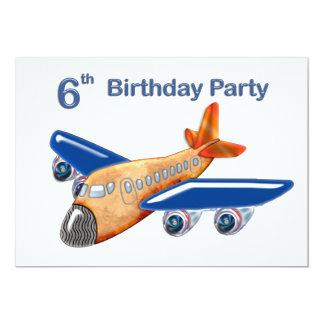 Amazing Airplane 6th Birthday Card