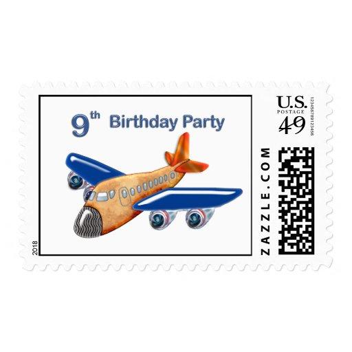 Amazing Airplane 9th Birthday Stamp
