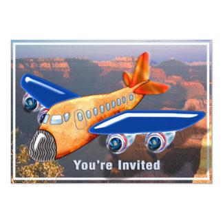 Amazing Airplane Aerial View Invite
