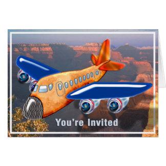 Amazing Airplane Aerial View Invite Card