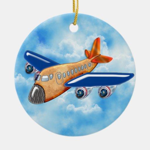 Amazing Airplane Ceramic Ornament