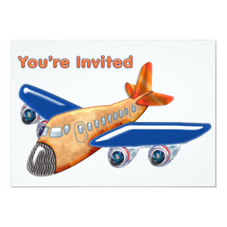 Amazing Airplane Invited Card