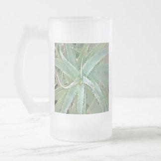 Amazing Aloe Vera Frosted Glass Beer Mug