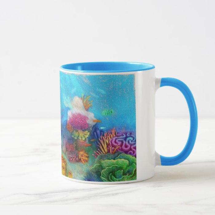 Amazing and Colorful reef with  fish and corals, Mug