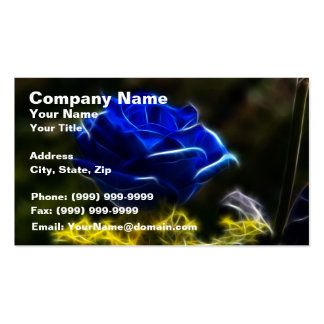 Amazing And Unique Blue Rose Business Card