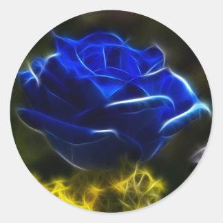 Amazing And Unique Blue Rose Classic Round Sticker