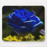 Amazing And Unique Blue Rose Mouse Pads