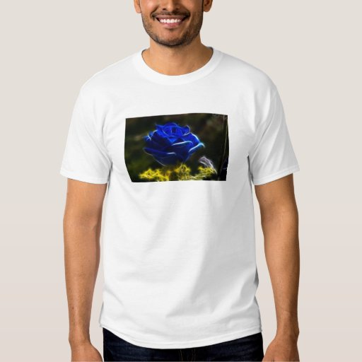Amazing And Unique Blue Rose Tee Shirt