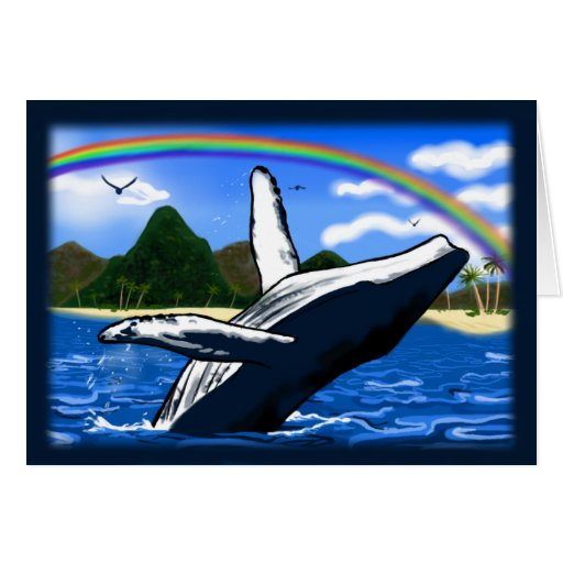 Amazing Animals ~Humpback Whale~ Note Card