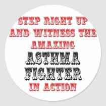Amazing Asthma Fighter In Action Classic Round Sticker
