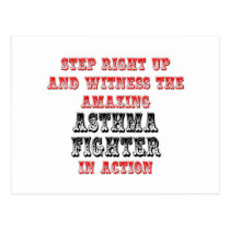 Amazing Asthma Fighter In Action Postcard