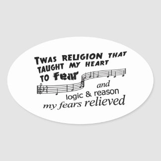 Amazing Atheism Oval Sticker