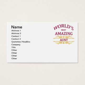 Amazing Aunt Business Card