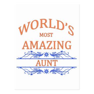 Amazing Aunt Postcard