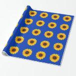 Amazing Autumn Beauty Sunflower Gift Wrap Paper