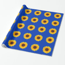 Amazing Autumn Beauty Sunflower Wrapping Paper