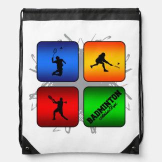 Amazing Badminton Urban Style Drawstring Backpack