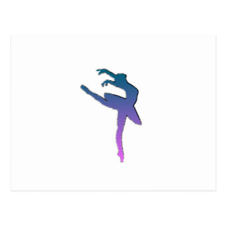 Amazing Ballerina Graphic Postcard