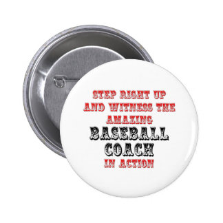 Amazing Baseball Coach In Action Button