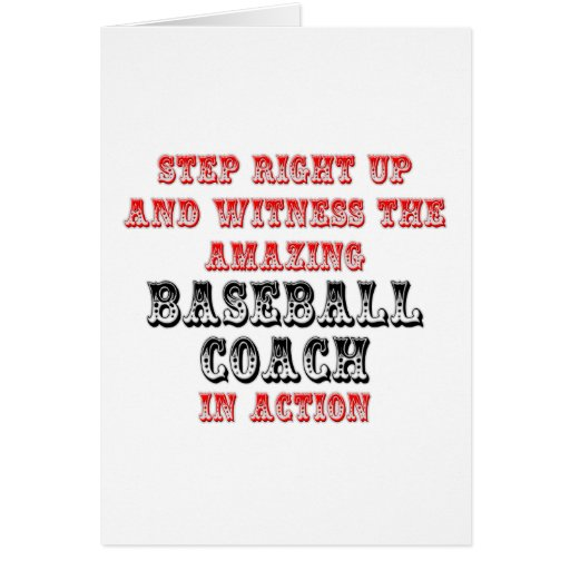 Amazing Baseball Coach In Action Greeting Cards