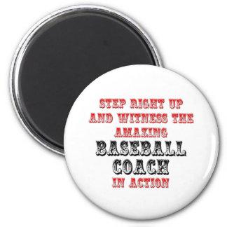 Amazing Baseball Coach In Action Fridge Magnets