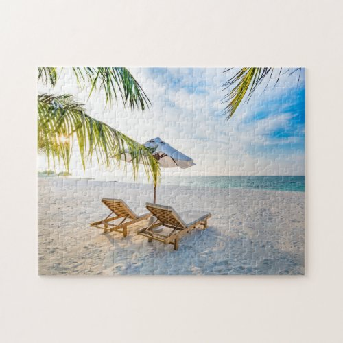Amazing Beach Sunset Jigsaw Puzzle
