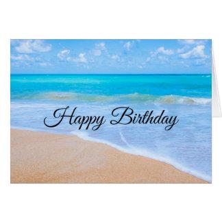 Amazing Beach Tropical Scene Photo Birthday Card