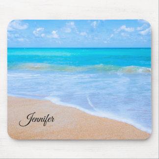 Amazing Beach Tropical Scene Photo Custom Mouse Pad