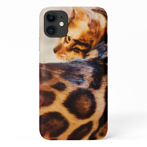 Amazing Bengal Cat iPhone 11 phone case