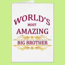 Amazing Big Brother Card