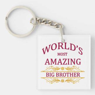 Amazing Big Brother Single-Sided Square Acrylic Keychain