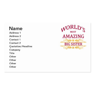 Amazing Big Sister Business Card