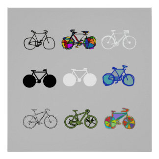 amazing bikes grouped design poster