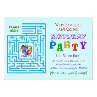 Amazing Birthday Party 5x7 Paper Invitation Card