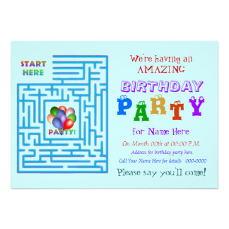 Amazing Birthday Party Personalized Invite