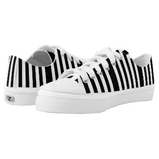 Amazing Black and White Striped Low-Top Sneakers