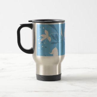Amazing blue floral flower design mugs