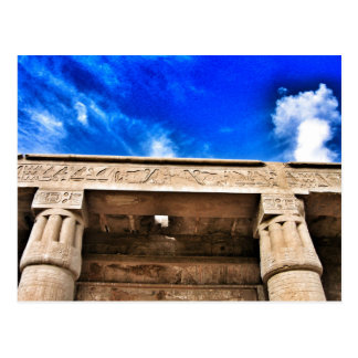 Amazing blue sky over Egyptian temple Postcard