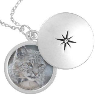 Amazing Bobcat Locket Necklace