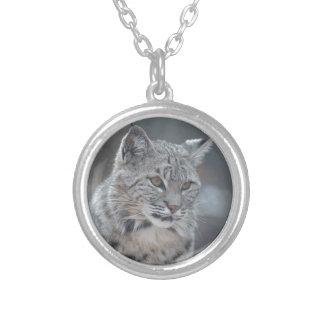 Amazing Bobcat Round Pendant Necklace