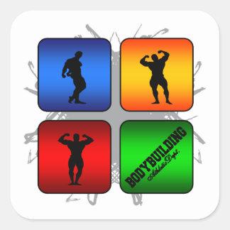 Amazing Bodybuilding Urban Style Square Sticker