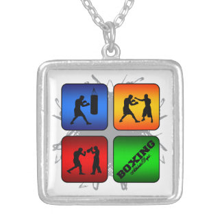 Amazing Boxing Urban Style Silver Plated Necklace