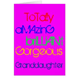 Amazing Brilliant Gorgeous Granddaughter Birthday Card