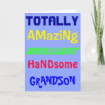 """Amazing Brilliant Handsome - Personalized Birthday Card<br><div class=""""desc"""">The front of this Happy Birthday greetings card reads """"To a totally amazing,  brilliant,  handsome"""" and you can personalise it for any friend or relative.  Inside it has the greeting """"Happy Birthday""""</div>"""